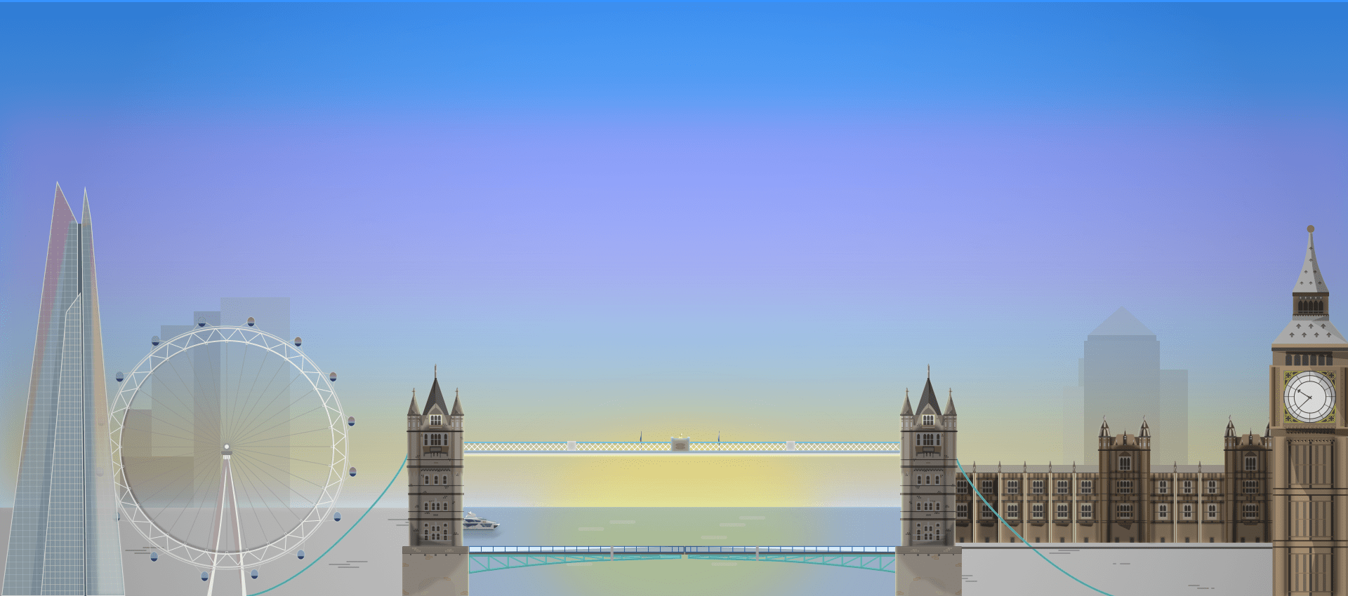 Graphic of London skyline