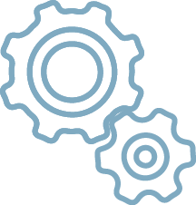 Graphic of cogs